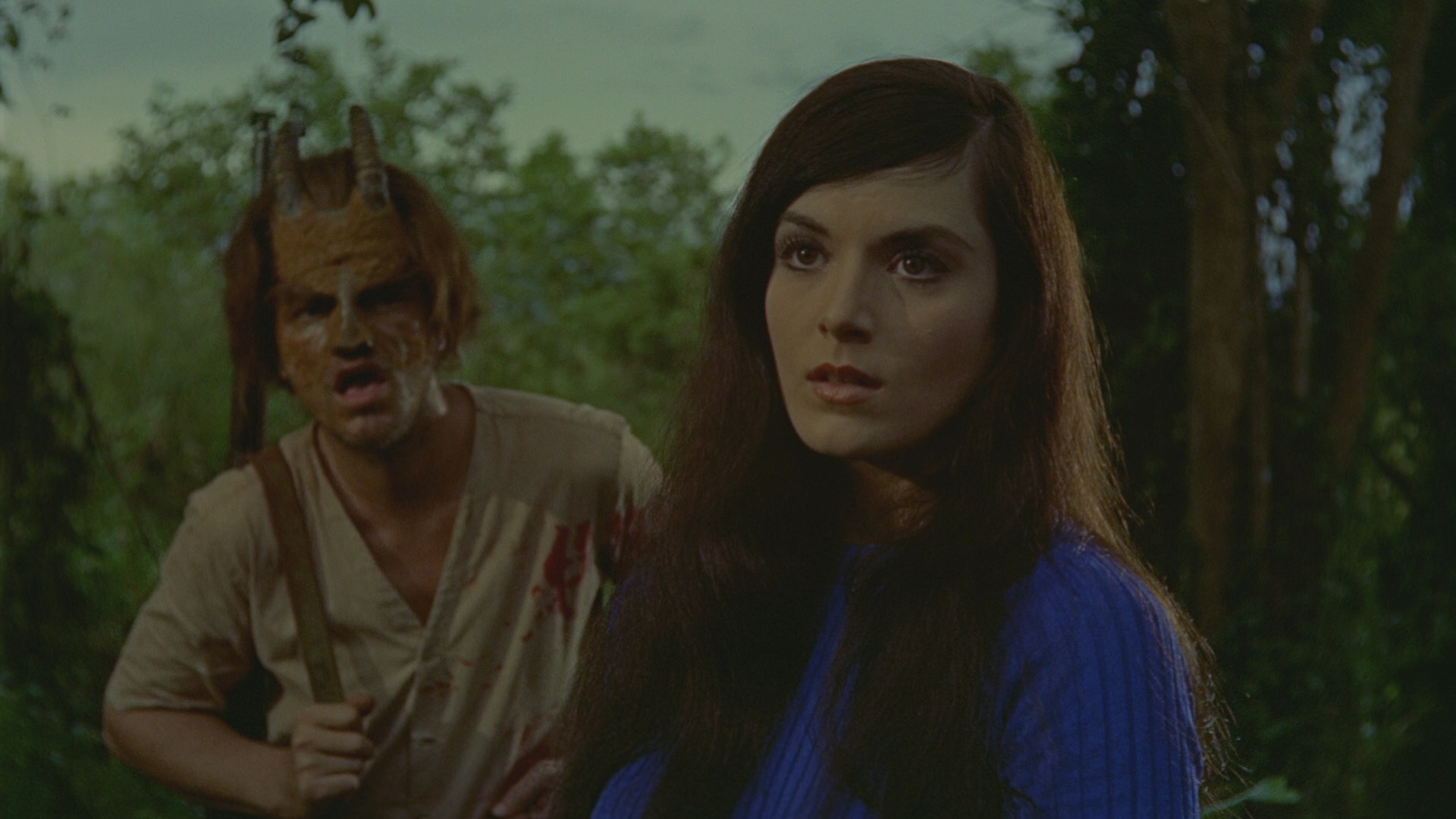 Ken Metcalfe and Pat Woodell in The Twilight People (1972)