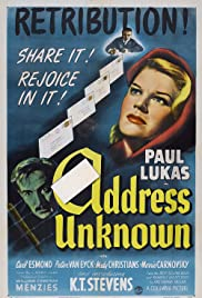 Address Unknown (1944) 720p