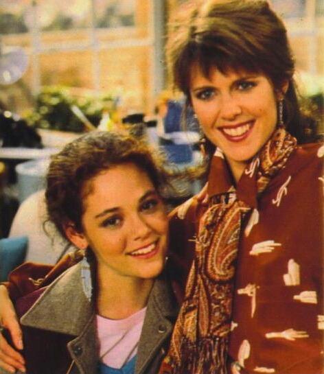 Pam Dawber and Rebecca Schaeffer in My Sister Sam (1986)