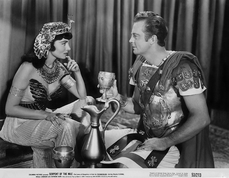 Rhonda Fleming and William Lundigan in Serpent of the Nile (1953)