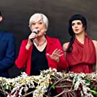 Rosa Maria Sardà, Clara Lago, Berto Romero, and Josep Maria Riera in Ocho apellidos catalanes (2015)