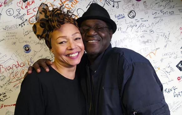 Neville Staple and Kim Appleby at an event for Smashing Hits! The 80s Pop Map of Britain & Ireland (2018)