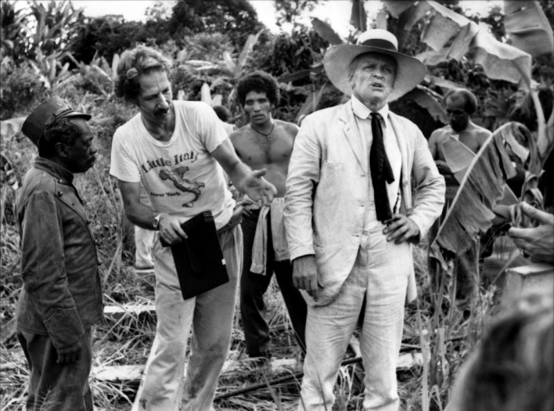 Werner Herzog and Klaus Kinski in Fitzcarraldo (1982)