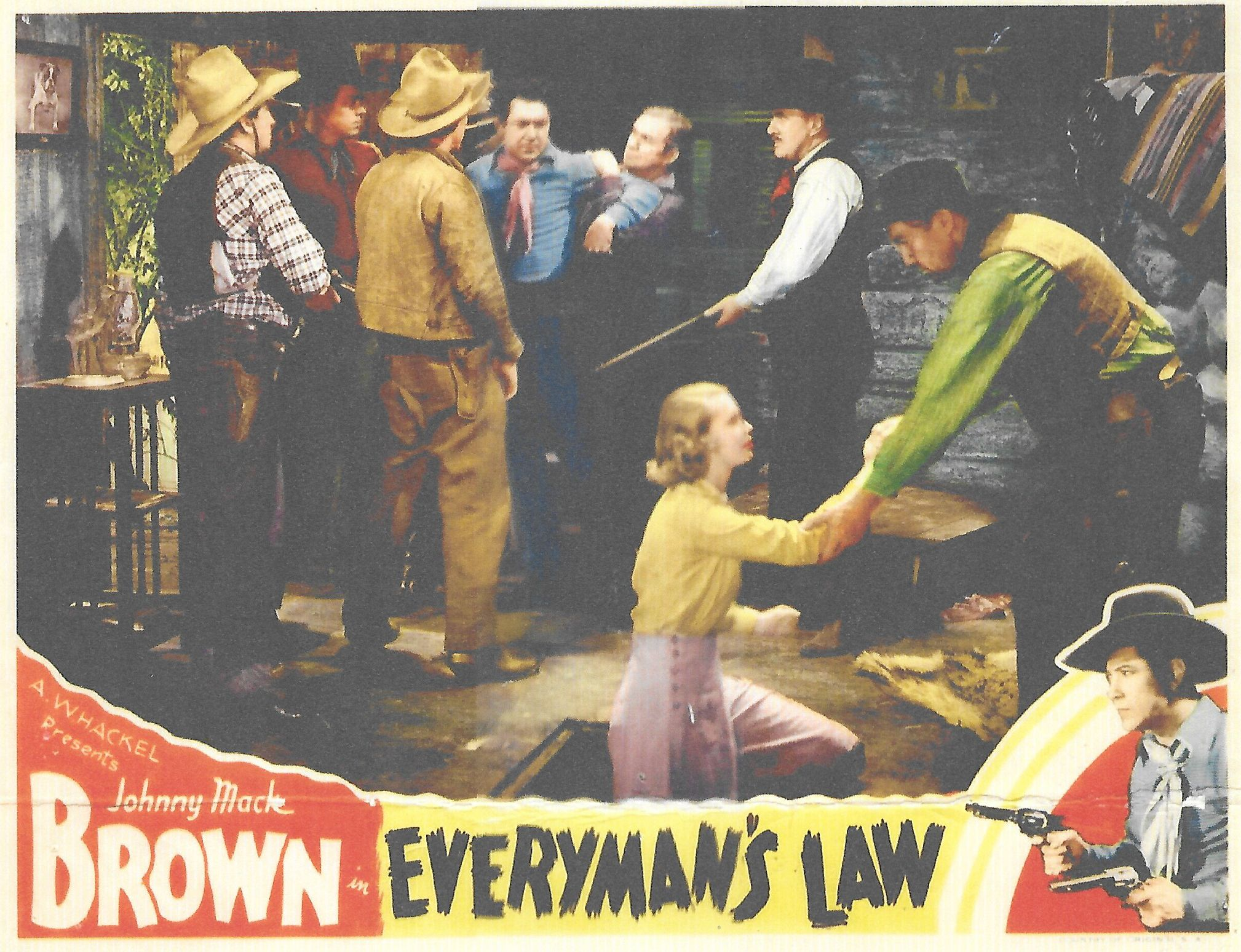 Johnny Mack Brown, Ed Cassidy, Beth Marion, and Francis Walker in Everyman's Law (1936)