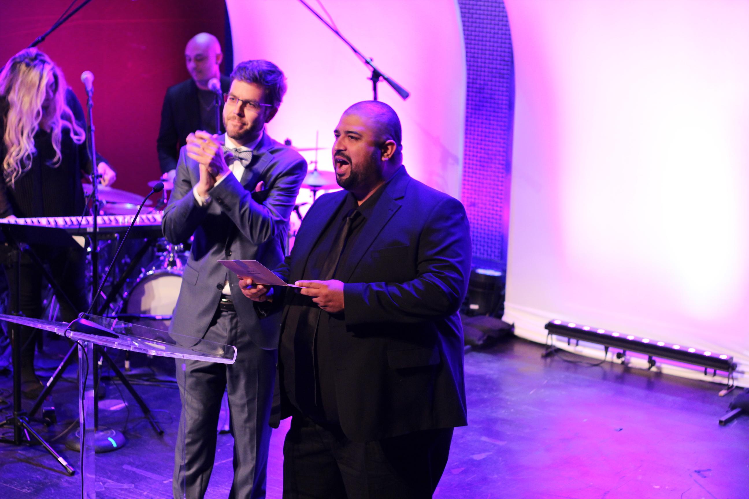 David Fernandez Jr., Art Neill, and Nina Leilani Deering at an event for San Diego Film Awards (2017)