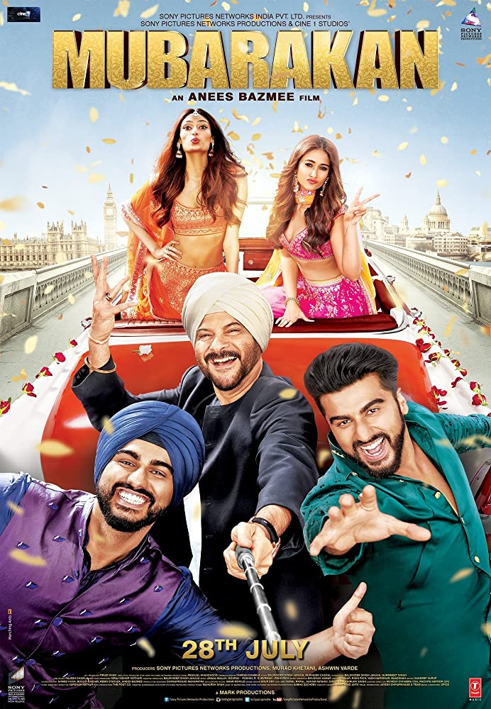 Mubarakan 2017 Movie BRRip 400mb 480p 1.3GB 720p