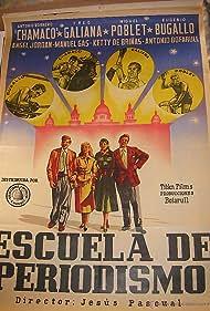 Antonio Bofarull, Antonio Borrero 'Chamaco', Eugenio Bugallo, Ketty de Briñas, Fred Galiana, Manuel Gas, and Miguel Poblet in Escuela de periodismo (1956)