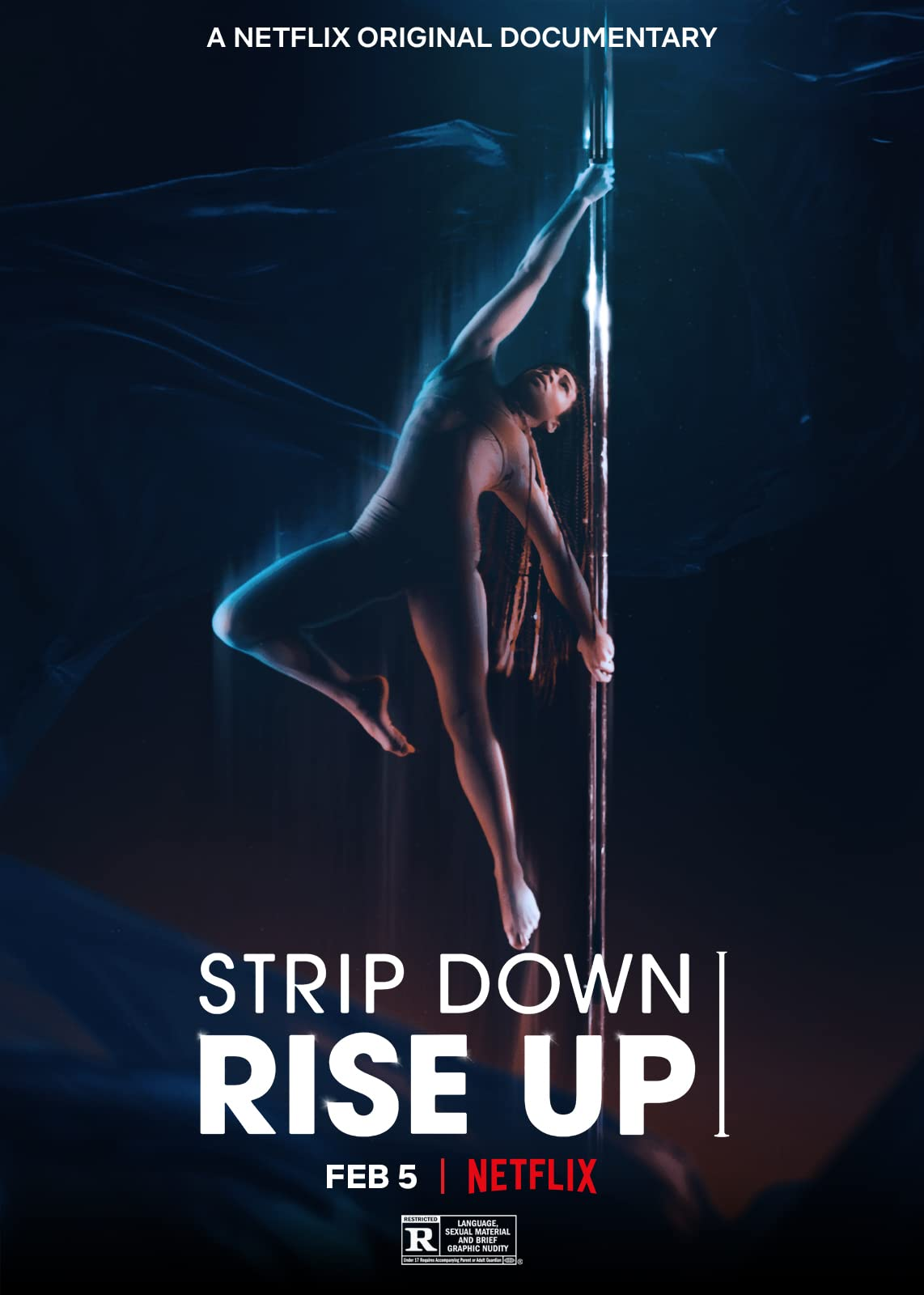 Strip Down Rise Up (2021) English 720p HEVC NF HDRip  x265 AAC MSubs (600MB) Full Movie Download