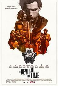 Jason Clarke, Harry Melling, Bill Skarsgård, Robert Pattinson, Sebastian Stan, Mia Wasikowska, Riley Keough, and Tom Holland in The Devil All the Time (2020)
