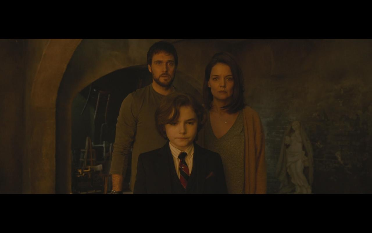 Katie Holmes, Owain Yeoman, and Christopher Convery in Brahms: The Boy II (2020)