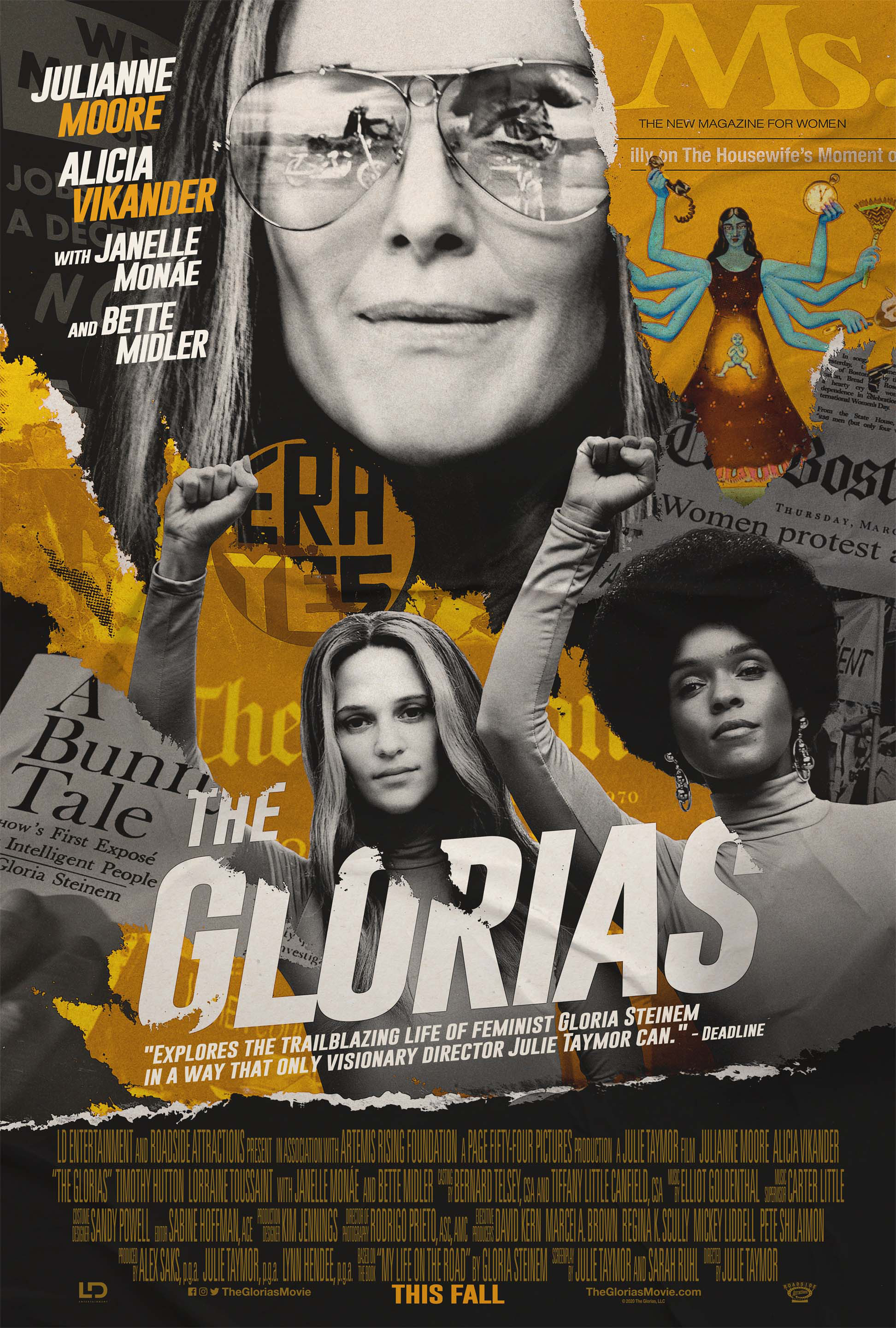Promotional poster for THE GLORIAS