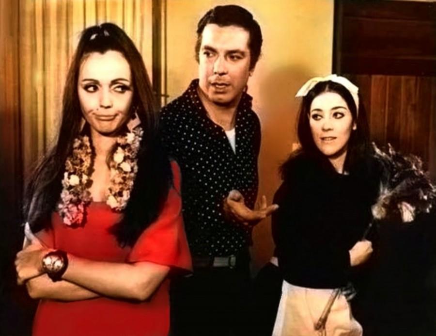 Marcela López Rey, Linda Peretz, and Jorge Sobral in Ché OVNI (1968)