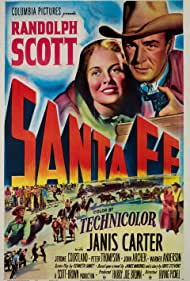 Randolph Scott and Janis Carter in Santa Fe (1951)