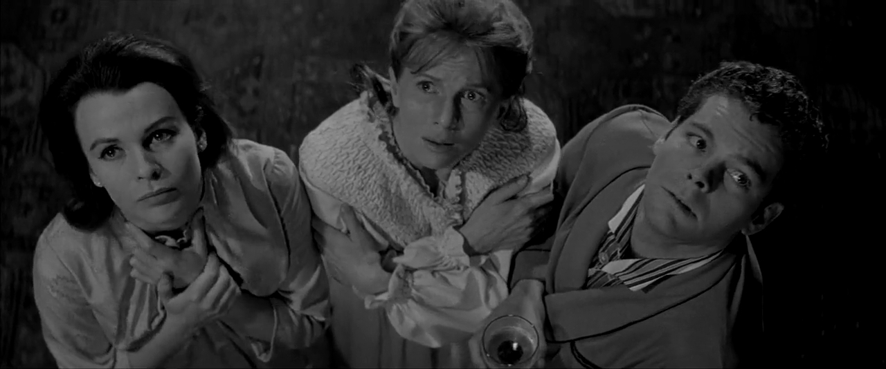 Claire Bloom, Julie Harris, and Russ Tamblyn in The Haunting (1963)