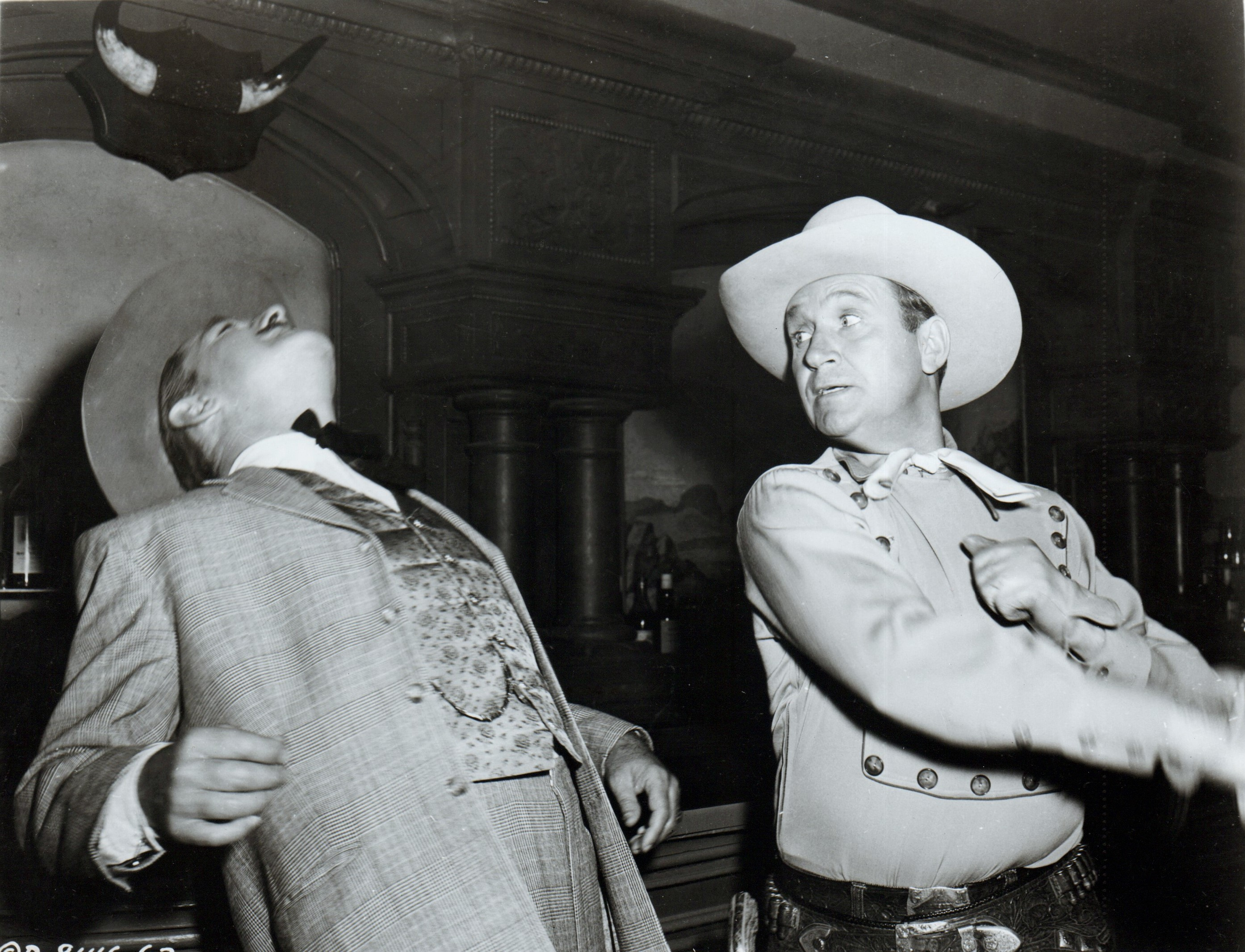 Gene Autry and Kenne Duncan in Pack Train (1953)