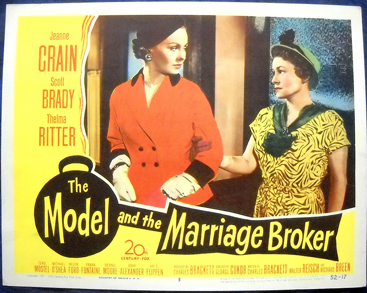 Image result for the model and the marriage broker 1951 thelma ritter