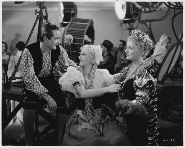 Joan Fontaine, Nino Martini, and Lee Patrick in Music for Madame (1937)