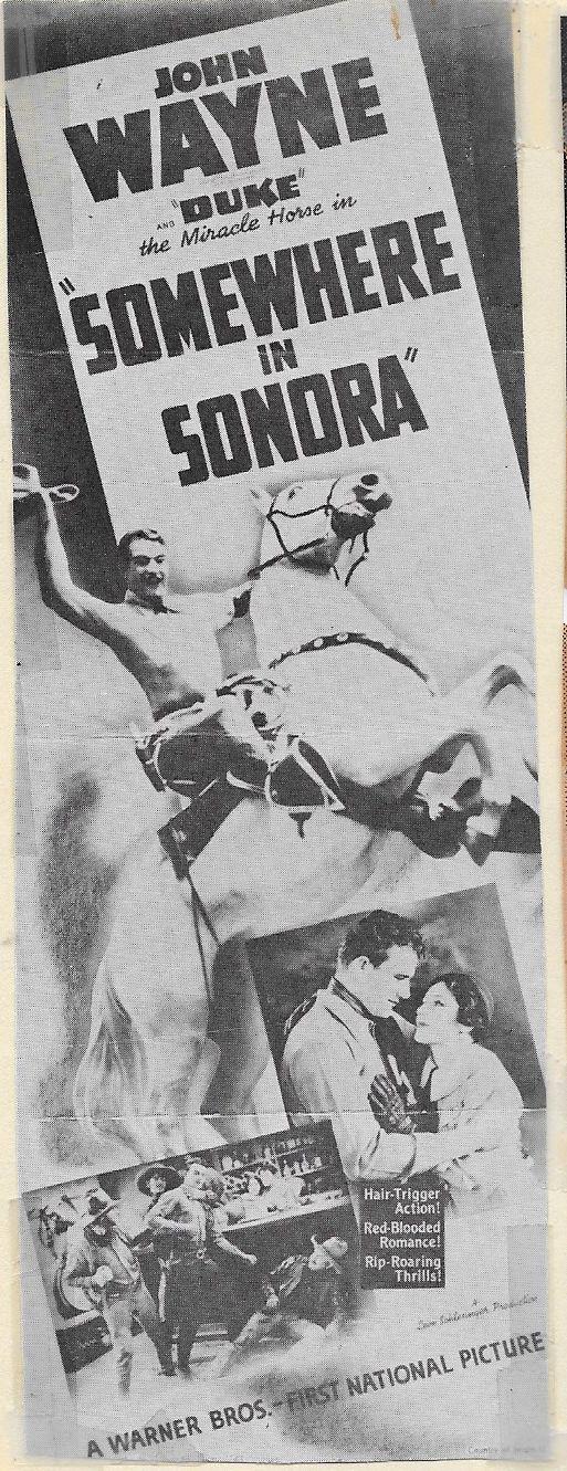 John Wayne, Shirley Palmer, and Duke in Somewhere in Sonora (1933)