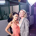 Actress Yvette Yates & Actress Leslie Easterbrook on the set of SORORITY PARTY MASSACRE