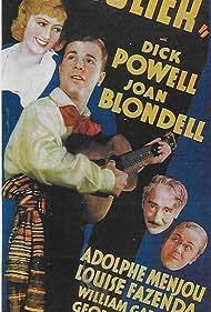 Joan Blondell, Louise Fazenda, Adolphe Menjou, Donald Mills, Harry Mills, Herbert Mills, John Mills, Dick Powell, and The Mills Brothers in Broadway Gondolier (1935)