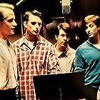 Matt Letscher, Ryan Northcott, Nick Stabile, Ned Vaughn, and Frederick Weller in The Beach Boys: An American Family (2000)
