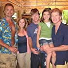 John Schneider with Susan, Chris Carmack, Alicia Snyder, and Brian Patrick Clark in the film H2O.