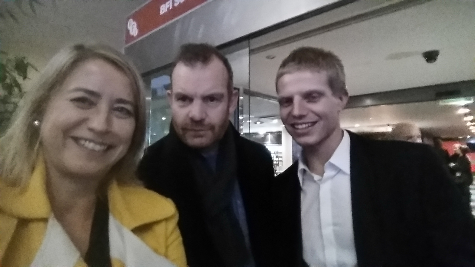 """Charlotta Hansen, Tim Chipping and Charley Palmer Rothwell at the screening of """"Jacked"""" at the London Film Festival 2015"""