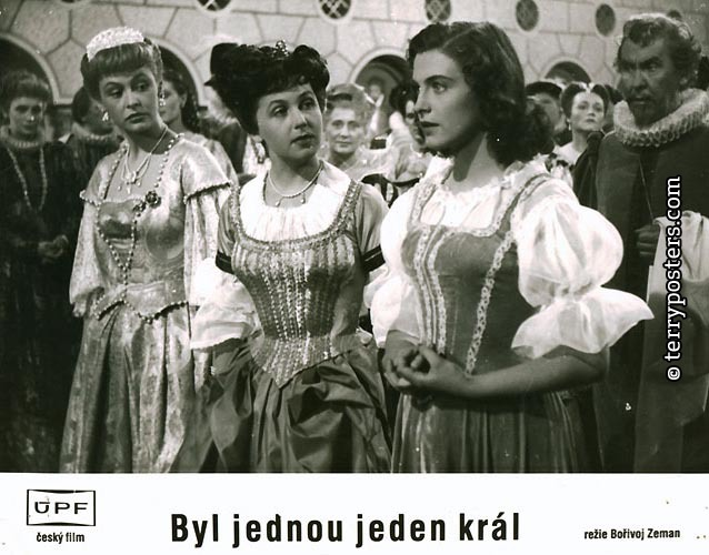 Milena Dvorská, Irena Kacírková, and Stella Májová in Byl jednou jeden král... (1955)