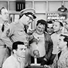 Herbie Faye, Mickey Freeman, Maurice Gosfield, Gerald Hiken, Karl Lukas, Allan Melvin, Billy Sands, and Phil Silvers in The Phil Silvers Show (1955)
