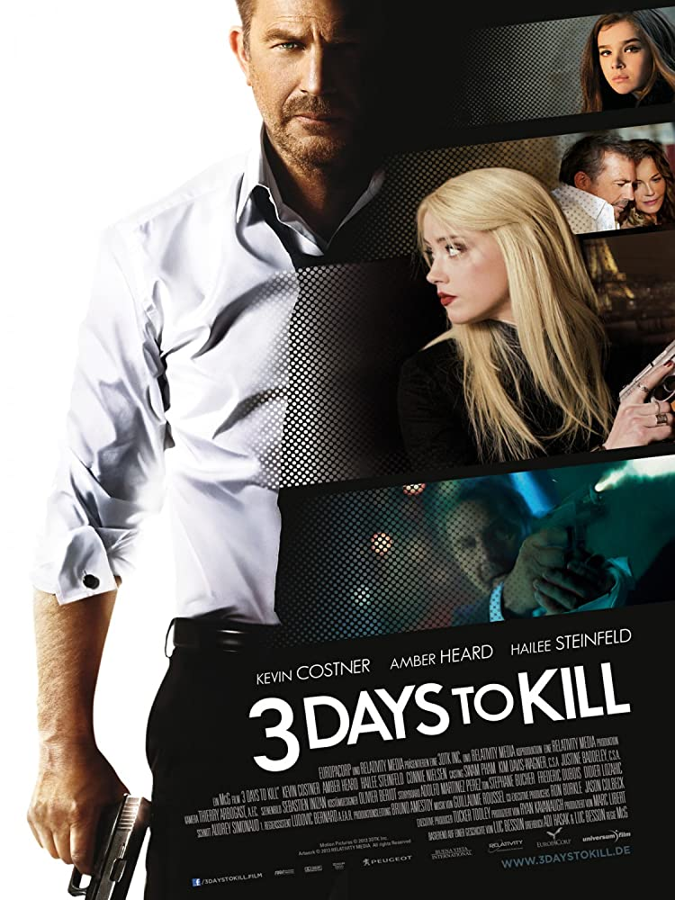 Poster film Three Days to Kill.