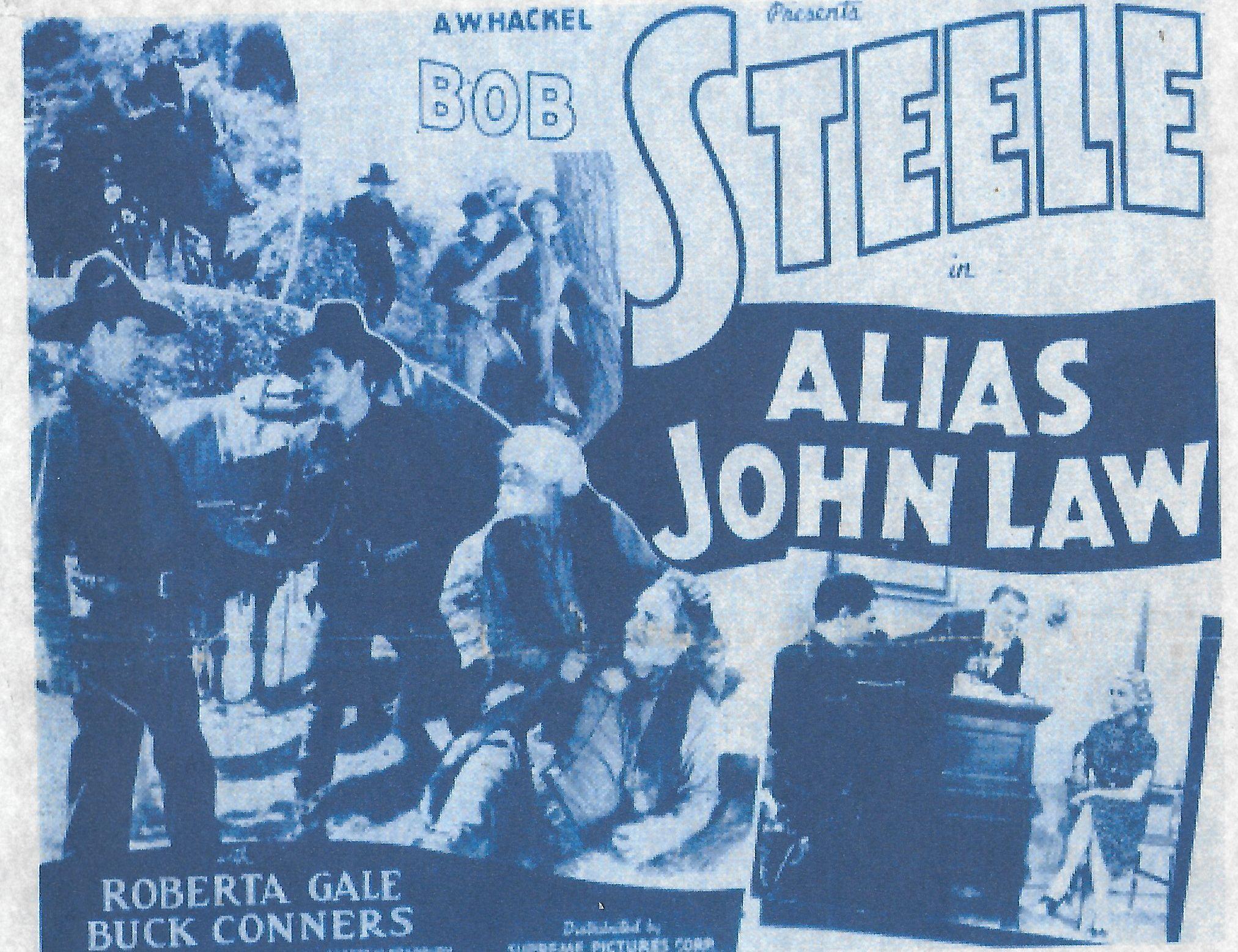 Steve Clark, Buck Connors, Earl Dwire, Roberta Gale, Robert McKenzie, and Bob Steele in Alias John Law (1935)