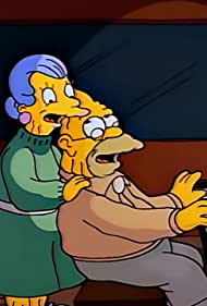 Dan Castellaneta and Audrey Meadows in The Simpsons (1989)