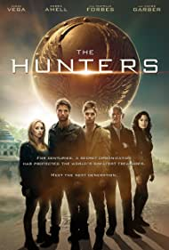 Michelle Forbes, Victor Garber, Alexa PenaVega, Robbie Amell, and Keenan Tracey in The Hunters (2013)