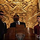 Jesse L. Martin, Grant Gustin, and Hartley Sawyer in License to Elongate (2019)