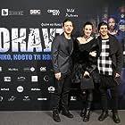"Still of Anton Poriazov , Lorina Kamburova and Orlin Pavlov on the premiere of movie ""All She Wrote"""