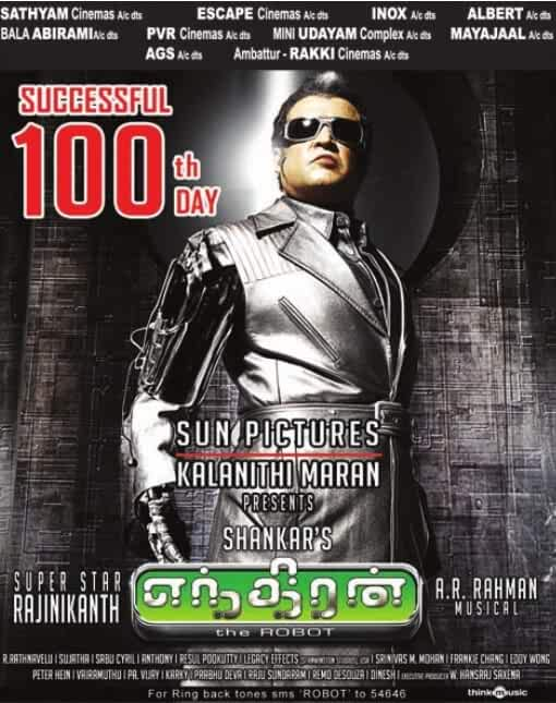 Enthiran [Robot] (2010) Multi Audio Uncut [Tamil – Telugu – Hindi] x264 AAC ESUB