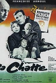Françoise Arnoul, Bernard Blier, Kurt Meisel, and Bernhard Wicki in La chatte (1958)