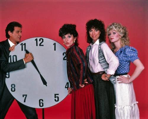 Rita Moreno, Peter Bonerz, Valerie Curtin, and Rachel Dennison in 9 to 5 (1982)