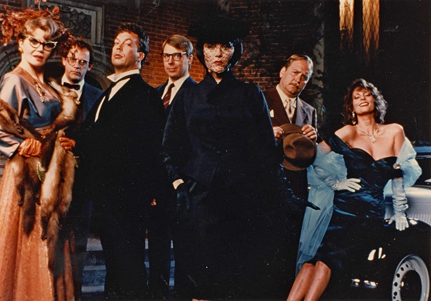 Tim Curry, Christopher Lloyd, Lesley Ann Warren, Madeline Kahn, Eileen Brennan, Michael McKean, and Martin Mull in Clue (1985)