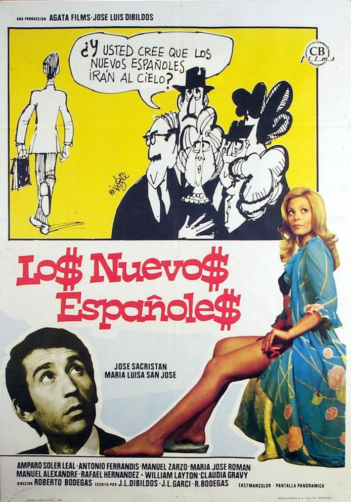 José Sacristán and María Luisa San José in Los nuevos españoles (1974)