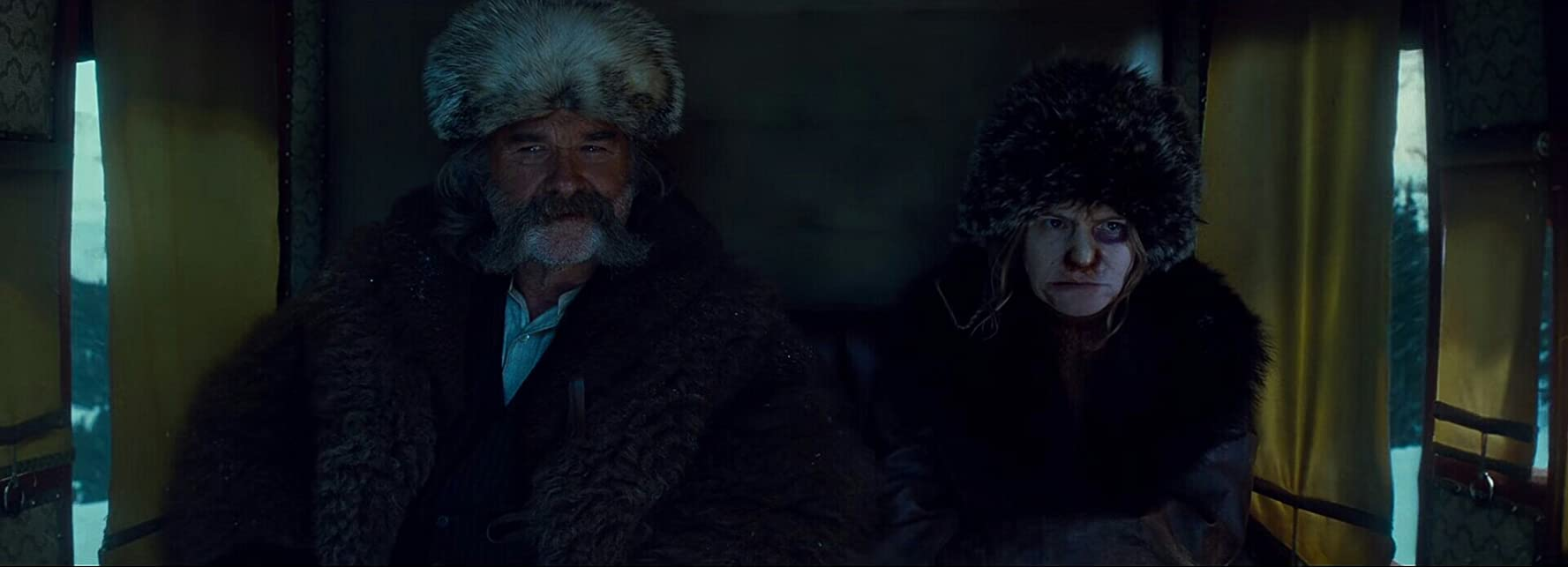 Jennifer Jason Leigh and Kurt Russell in The Hateful Eight (2015)