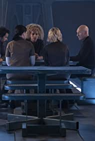 Patrick Stewart, Michelle Hurd, Alison Pill, Santiago Cabrera, and Isa Briones in Star Trek: Picard (2020)