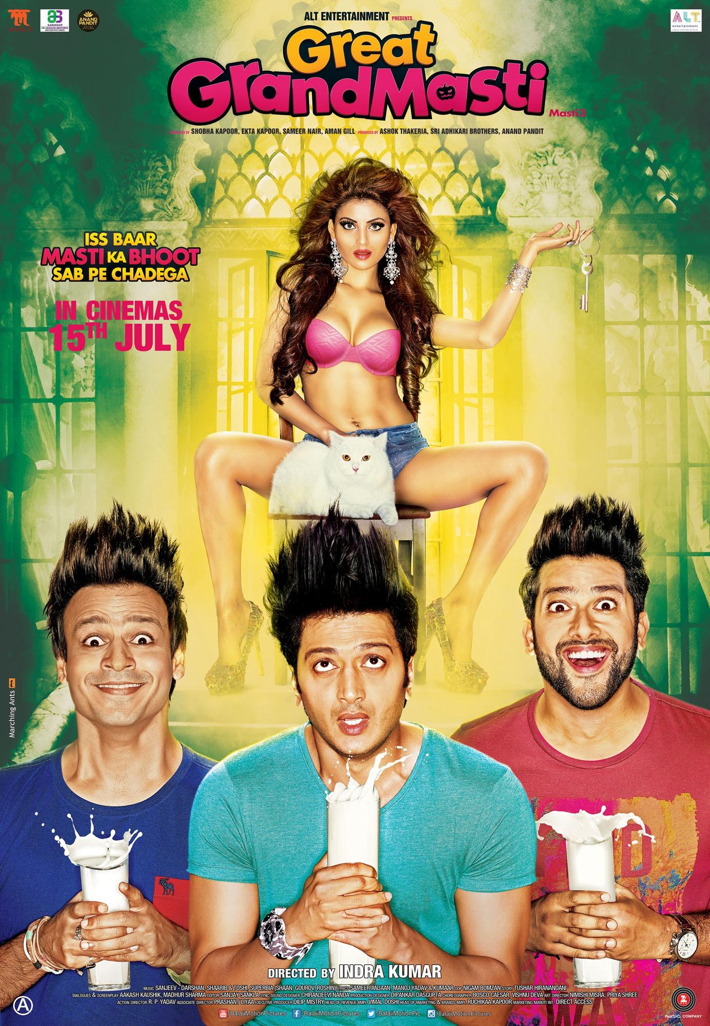 Great Grand Masti (2016) Hindi WEB-DL - 480P   720P - x264 - 300MB   950MB - Download & Watch Online  Movie Poster - mlsbd