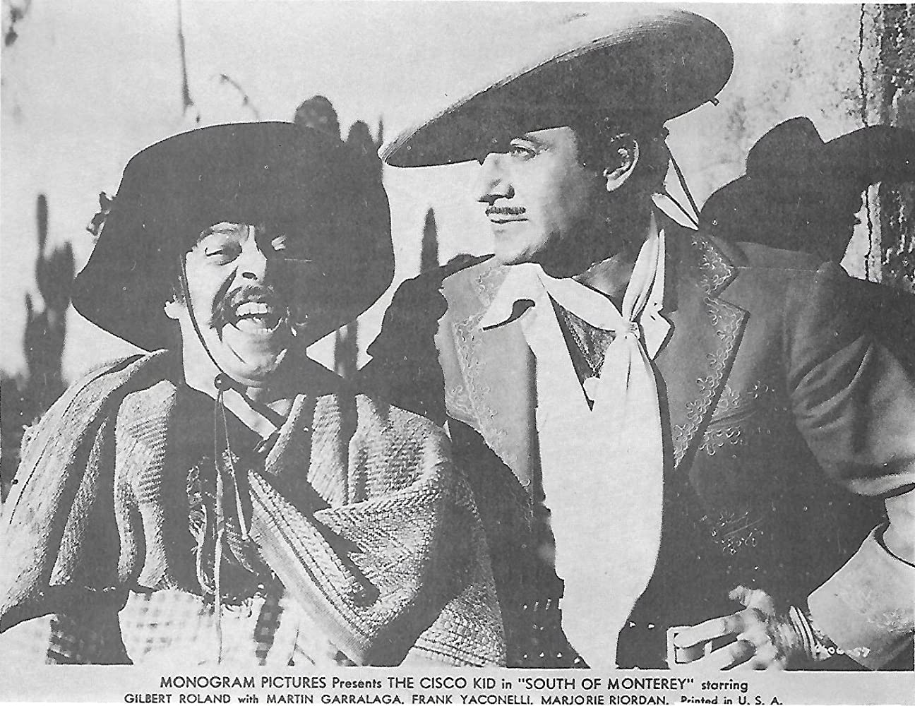 Gilbert Roland and Frank Yaconelli in South of Monterey (1946)