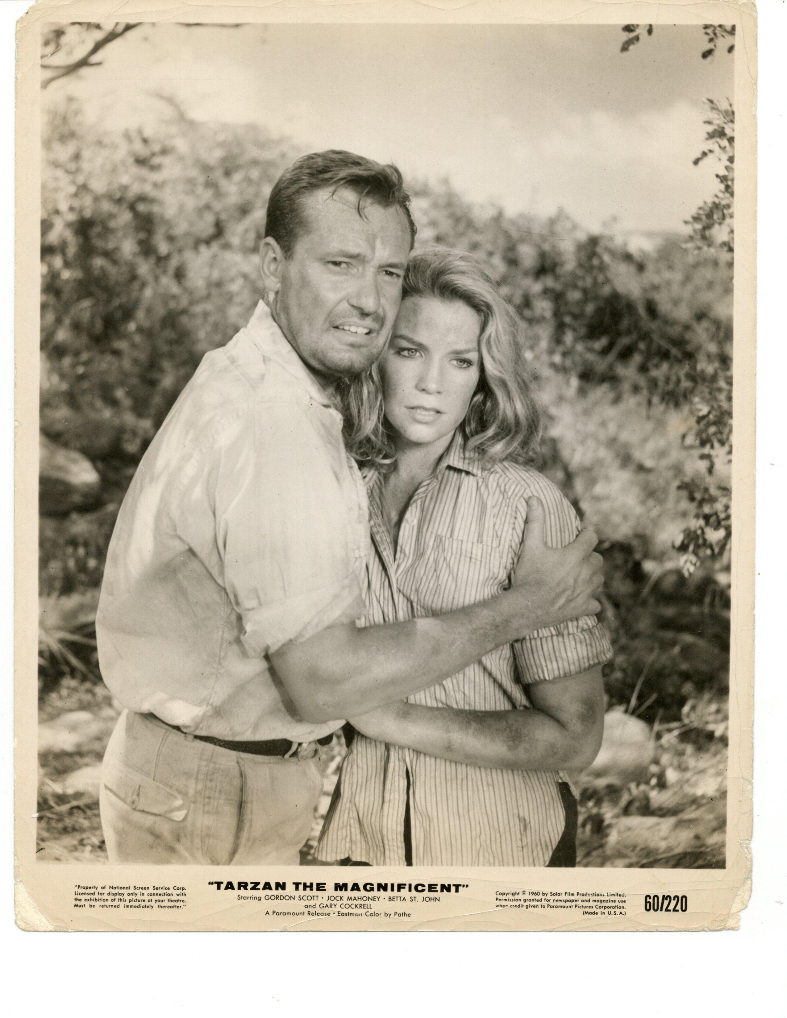 Alexandra Stewart and Charles 'Bud' Tingwell in Tarzan the Magnificent (1960)