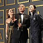 Natalie Portman, Taika Waititi, and Timothée Chalamet at an event for The Oscars (2020)