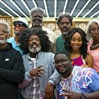 Lisa Leslie, Reggie Miller, Shaquille O'Neal, Chris Webber, Erica Ash, Lil Rel Howery, Nate Robinson, and Kyrie Irving in Uncle Drew (2018)