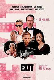 Jon Øigarden, Agnes Kittelsen, Pål Sverre Hagen, Simon J. Berger, Ine Marie Wilmann, and Tobias Santelmann in Exit (2019)