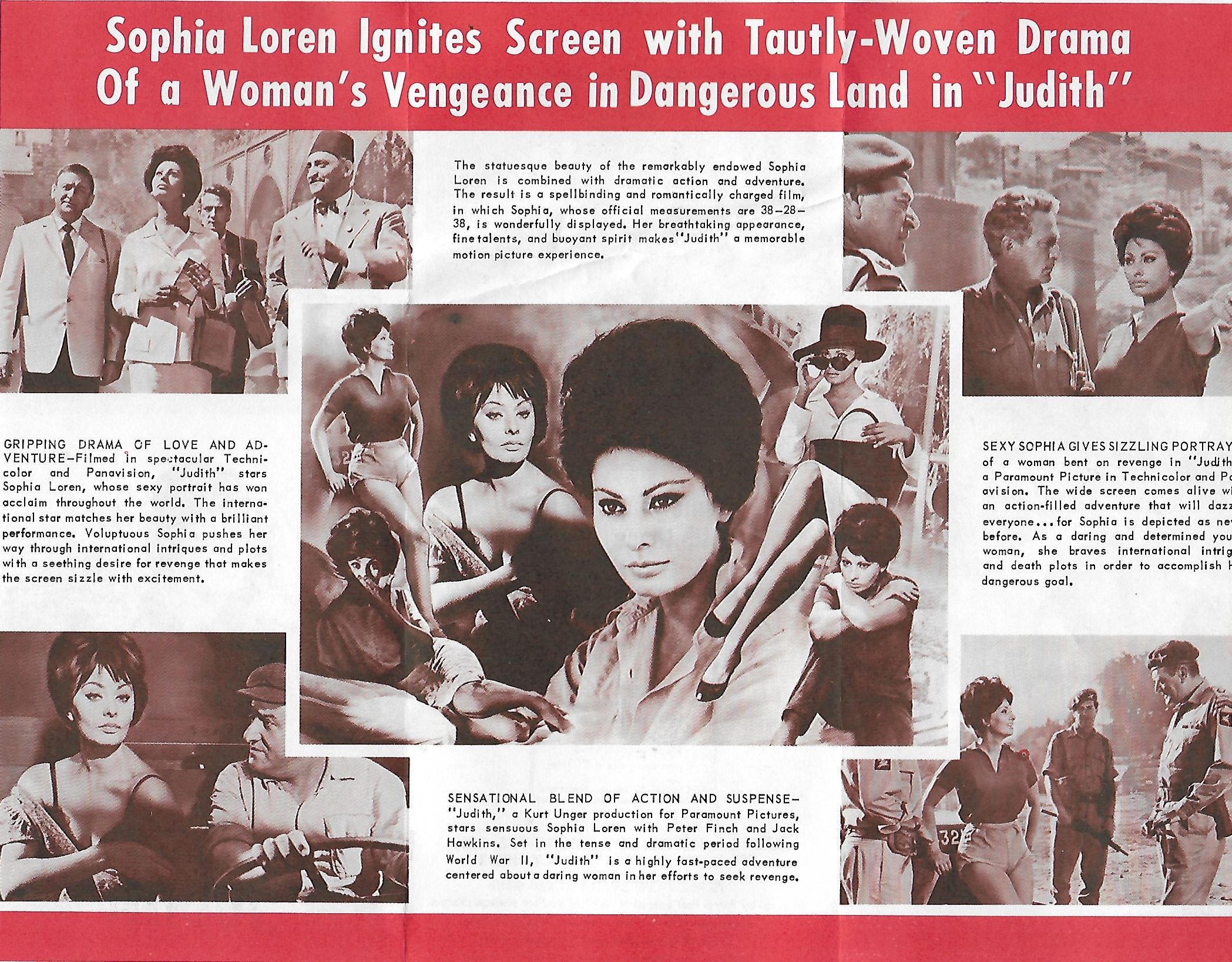 Sophia Loren, Peter Finch, Arnoldo Foà, Jack Hawkins, Hans Verner, and Frank Wolff in Judith (1966)