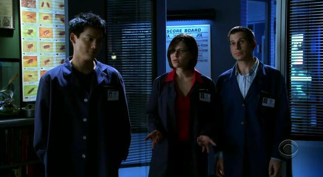 Sheeri Rappaport, Archie Kao, and Jon Wellner in CSI: Crime Scene Investigation (2000)